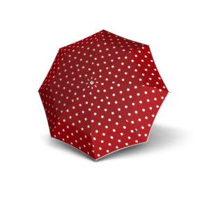 Moteriškas skėtis Knirps T200 Duomatic, raudona, išskleistas