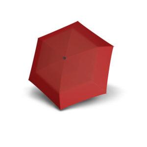 Moteriškas skėtis Doppler Fiber Mini Compact, raudona, išskleistas