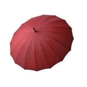 Moteriškas skėtis Doppler Natural London, raudona, išskleistas