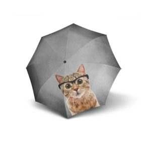 Moteriškas skėtis, Doppler Modern Art Crazy Cat, išskleistas