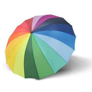 Unisex skėtis Derby Hit Golf vaivorykštės spalvų atidarytas
